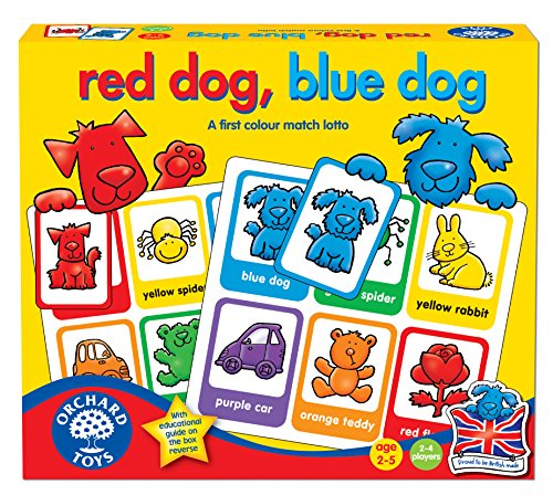 Orchard Toys Red Dog, Blue Dog - Juego educativo para aprender los colores