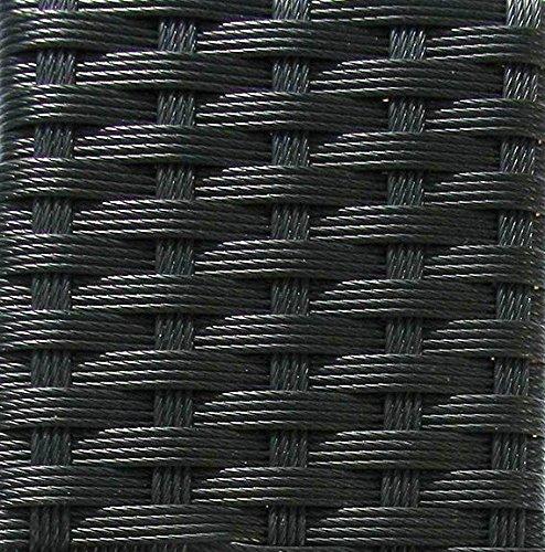Gartenbank Lanzarote Schwarz 150cm mit Kissen - 3