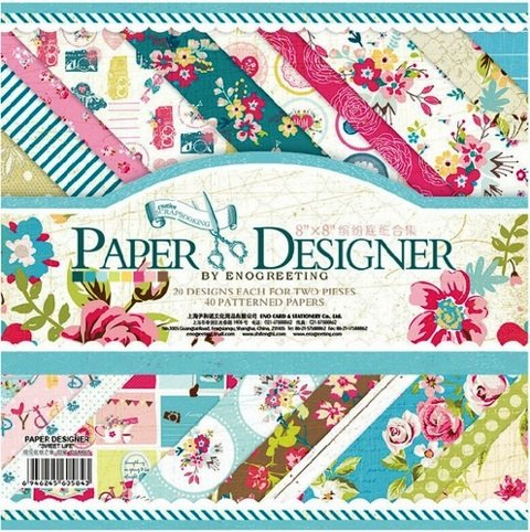 Paper Designer Beautiful Pattern Design Printed Papers for Art n Craft(Size: 8x 8 Inch)