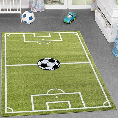 Alfombra infantil de fútbol para la habitación de los niños, color verde, 80 x 150 cm