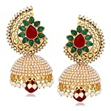 Meenaz Kundan Pearl Jhumki Earrings For ...