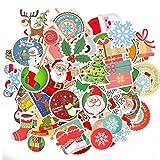 BETOY Autocollants de Noël, 100pcs Graffiti Vinyle Stickers de Noël Imperméable et Suncare Bagage Autocollants de Noël Décoration pour Ordinateur Portable Vélo Macbook Valise