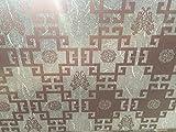 Milchglasfolie Sichtschutzfolie Fensterfolie Dekofolie Dekor Folie Glasfolie Selbstklebend - Selbsthaftende Fensterfolie milchglas blickdicht mit Muster für Fenster innen 68 x 300 cm