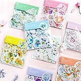 ulofpc 10 PCS aquarelle Floral Stickers Agenda quotidien Scrapbook et enfants Artisanat Fleur Stickers