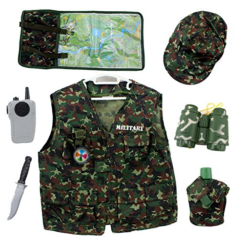 TopTie Camo Tactical Kostüme, Military Motiv Rolle Spielen Set für Kid