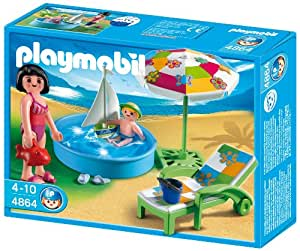 Playmobil 4864 jeu de construction pataugeoire for Caillou francais piscine