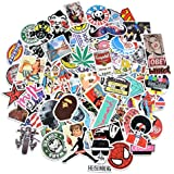 Rapidotzz Decal Graffiti Patches Skateboard Stickers for Laptop, Car, Motorcycle, Bicycle and Luggage - Set of 100 Pieces
