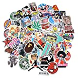 #8: CHRONEX 100PCS Cool Vinyls Graffiti Stickers to Personalize Laptops, Skateboards, Luggage, Cars, Bumpers, Bikes.