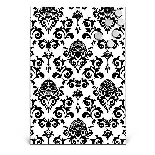 BANJADO Design Magnettafel Edelstahl | Schreibtafel magnetisch 35cm x 50cm | Memoboard mit 6...