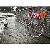 Puzzles 1000 Pezzi Puzzle di Legno Adulto Puzzle Gru Coronata Bianca Cestino per Bicicletta Fiore Bambino Puzzle Gioco Casual di Arte Fai-da-Te Giocattoli Interessanti Amico Famiglia Adatto