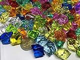CRYSTAL KING 140 Stück 500g große Bunte Deko EIS Diamanten 32mm Brillianten Strasssteine Acrylsteine basteln Dekosteine Gltzersteine Strass Steine zum Verzieren Dekorieren - 5