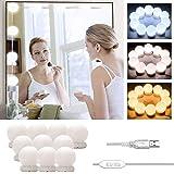 LED ijdelheid spiegelverlichting Hollywood stijl, Stick-on make-up spiegel licht Kit, USB-kabel cosmetische lamp, 3 kleurmodi