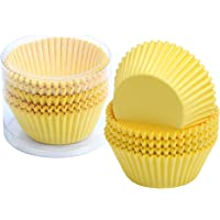 Paper Decora 0339884 Confezione 36 Pirottini Plum Cake 80 X 50 X 32 mm Giallo