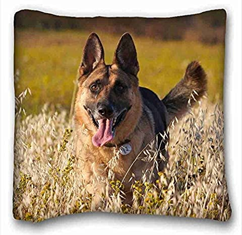Custom Characteristic ( Dogs German Shepherd ) Pillow Covers Bedding Accessories Size 16