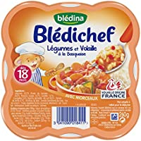 Blédina Blédichef Légumes et Volaille à la Basquaise dès 18 mois 260 g - Lot de 3
