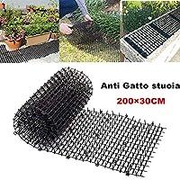 Cat Scat Mat, plastica da giardinaggio Anti - Cat Thorn Cat Dog Zanzariera in plastica per unghie Tenere il cane lontano