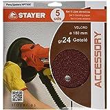 Stayer 12.471 - Set 5 Lijas Gr24 Especial Gotele Hp 750 E - Accesorio Lijadora De Pared