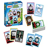 Ravensburger UK 20338 Thomas and Friends Ravensburger Thomas & Friends-Card Game for Kids Age 3 Years and Up-Play 4 Exciting Favourites Snap, Happy Families, Swap or Pairs