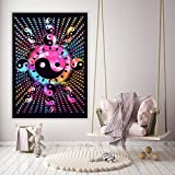 Handicraft-Palace Multi Mandala Painted Wall Hanging Wall Decor Poster Tie Dye Yin Yang Home Decor Wall Decor Cotton Small Wall Tapestry -Palace