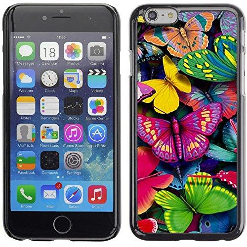 Graphic4You Bunt Schmetterling Schmetterlinge Muster Design Harte Hülle Case Tasche Schutzhülle für Apple iPhone 6 Plus / 6S Plus Design #7