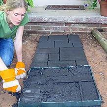 Bluelover 51cm jardín BRICOLAJE camino plástico fabricante modelo pavimentación del camino camino de cemento molde ladrillo piedra