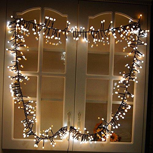 E-Bestar LED Lichterkette String-lights LED Deko Innen Lichterkette Gartenbeleuchtung für Weihnachten Hochzeit Party Christmas LED Deko Beleuchtung (Warme Weiß) (Led-weihnachts-beleuchtung Warme)