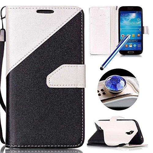 Etsue Custodia Per Samsung Galaxy S4 in Pelle,Lusso Colori Misti Matte Tatto Disegno Leather Pu (Equipaggiamento Standard Stand)