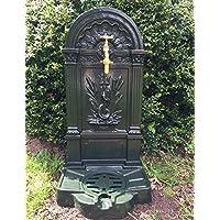 Antikas - fuente estilo antiguo con base para suelo - fuente pared de hierro fundido jardín