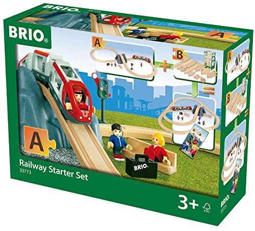 *BRIO World 33773 – Eisenbahn Starter Set A, bunt*