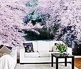 Yosot Benutzerdefiniertes Hintergrundbild Rosa Romantisch Cherry Tv Hintergrund Wand Schöne Moderne Wohnzimmer Schlafzimmer Hintergrund 3D Tapete-250Cmx175Cm
