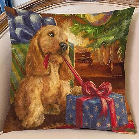 Copricuscini e federe, Kingko® Natale stampa tintura divano-letto Cuscino casa o un'immagine Decor