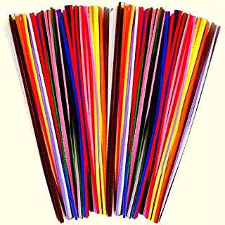Amazing Arts and Crafts Pipe Cleaners Chenille Stems Colours Assorted 30cm x 4mm 100