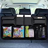 Car Boot Organiser, SURDOCA 3rd Gen [7 times Upgrade] Super Capacity Car Organiser, Equipped With [Robust Elastic Net & 3 Magic Stick] Car Boot Tidy Storage Bag with Lids, Space Saving Expert