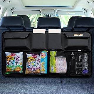 Kofferraum organizer auto, SURDOCA® 3rd Gen [doppelte Kapazität] organizer auto, ausgestattet mit [Starkes elastisches Netz & 3 Zauberstabstruktur ] kofferraumtasche, autotasche kofferraumtasche.