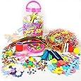 Mega Craft Jar Childrens Kids Giant Art Set Pom Poms Beads Paper Foam Letters (Red Or Pink)