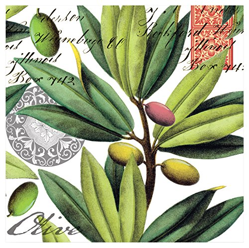 20-Count 3-lagig Papier Cocktail Servietten, Olive Grove ()