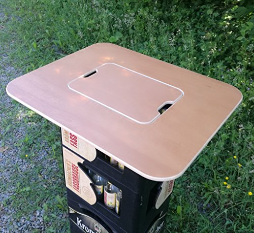 Original BestLoft® Tischaufsatz für Bierkasten – Stehtisch Partytisch Bistrotisch Tischaufsatz 70x58cm (Aufsatz+Servierbrett) - 3
