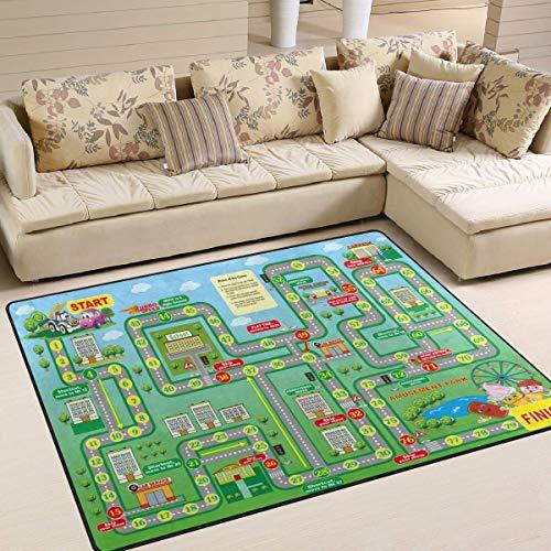 Flächenteppich 63x48 Zoll Cartoon Brettspiel Wolke für Wohnzimmer Schlafzimmer -