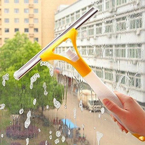 Kit 2en 1limpiacristales con botella pulverizadora Bote Spray integrado y con tira Agua Lava limpiacristales Lunas Espátula Rasqueta limpiacristales Limpiaparabrisas Parabrisas Ventana Ducha Casa Coche Oficina