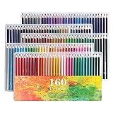 160 Ölige Kunst Buntstifte Set für Kinder & Erwachsene Malbücher Artwork mit Radierer und Spitzer