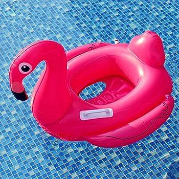 Baby Schwimmsitz Rosafarbener Flamingo Aufblasbar Kinder Schwimmring Einhorn Cartoon Aufblasbares Schwimmreifen Badespielzeug (Baby Schwimmring, Baby Flamingo) 4