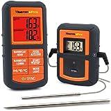 ThermoPro TP08 Barbecue Funk Grillthermometer Set Digitales Bratenthermometer BBQ Thermometer mit 2 Temperaturfühlern für Rachuer Ofen und Grills, mit Timer und Alarmton