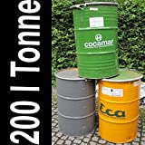 200 Liter Metallfass Metalltonne Tonne Brenntonne Regenfaß Feuertonne Regentonne Blechfass Ghettotonne - 6