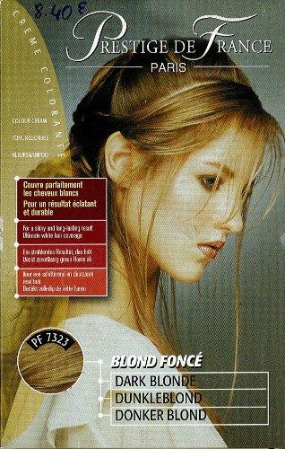 prestige de france crème colorante;blond fonce;extrait de moelle de bambou