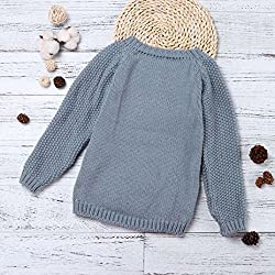 Children's Sweater,U.Expectating Cute Girls Autumn Winter Raindrop Cloud Sweater Knitted Pullovers Warm Coat
