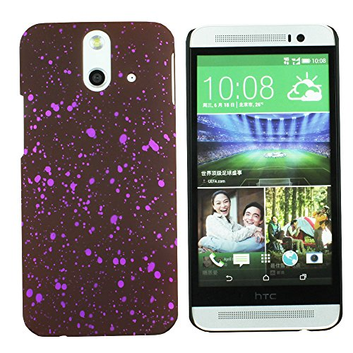 Heartly Night Sky Glitter Star 3D Printed Design Retro Color Armor Hard Bumper Back Case Cover For HTC One E8 Dual Sim - Maroon Purple  available at amazon for Rs.109