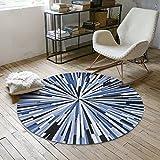 CKH Trend Runde Teppich Nordic Schlafzimmer Hängenden Korb Runde Decke Garderobe Foto Home Computer Stuhl Mat (Size : Diameter 80cm)
