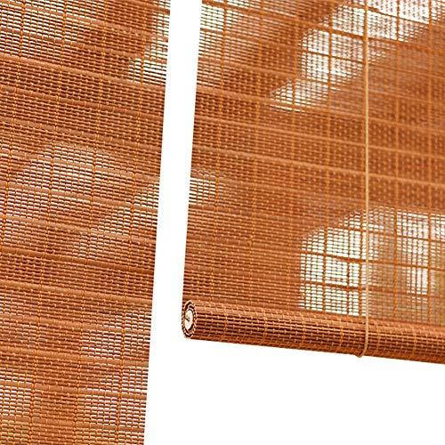 Seitenzug Springrollos Bambus-Roll-Ups, Windows-Trennwände Rollos Sonnenschutzlamellen Vintage Vorhang Für Balkon/Schlafzimmer/Teeraum, 60% Schattierungsrate (Farbe : Hook up, größe : 50X180cm)