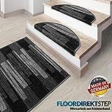 Floordirekt Läufer Teppich Brücke Teppichläufer Veneto anthrazit grau (80 x 300 cm)