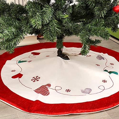shiningbaby Big Christmas Tree Skirt Base Blanket Weihnachtsdekoration Neujahr Urlaub Dekorationen Indoor Outdoor 120cm